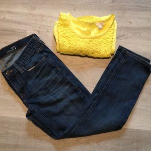 JCrew Cropped Matchstick jeans size 27.